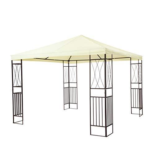 tepro Pavillon Creme KAEMI 295x295x280 cm Garten Camping Terrasse 5519
