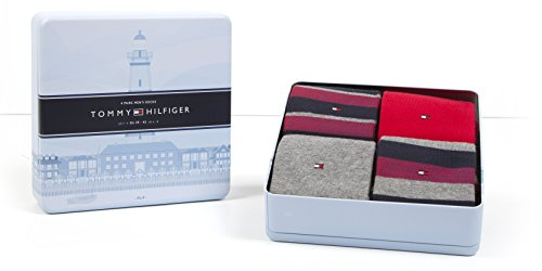 Tommy Hilfiger 4 Paar Herren Socken Limited Edition Cabin Box in edler Geschenkbox - Tommy original - Gr. 39-42