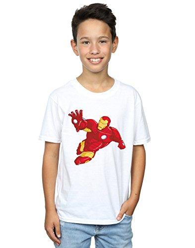 Marvel niños Iron Man Simple Camiseta 5-6 Years Blanco