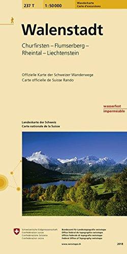 237T Walenstadt Wanderkarte: Churfirsten - Flumserberge - Rheintal - Liechtenstein (Wanderkarten 1:50 000)