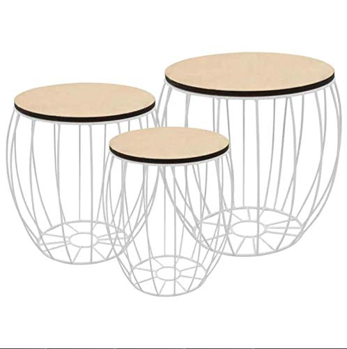 MercuryRow Pifer 3 Piece Removable top Nest of Tables