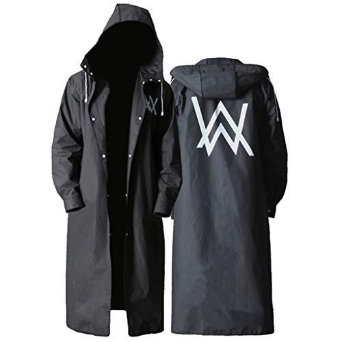 QARYYQ Trenchcoat voor outdoorkleding, wandelen en sporten, gehaakt, poncho waterdicht