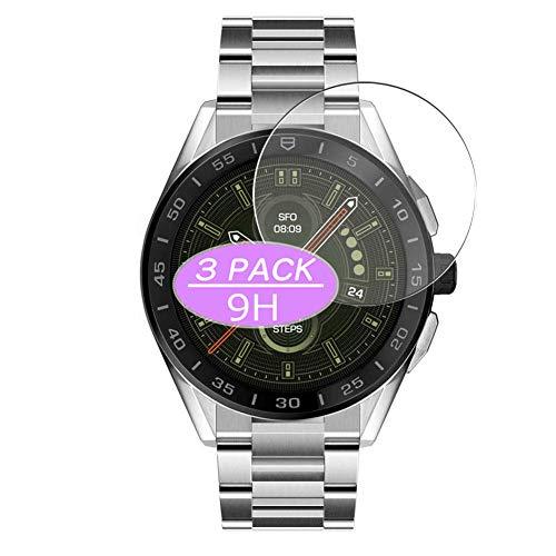 VacFun 3 Piezas Vidrio Templado Protector de Pantalla, compatible con TAG HEUER CONNECTED SBG8A10.BA0646/SBG8A11.BA0646, 9H Cristal Screen Protector Protectora Reloj Inteligente