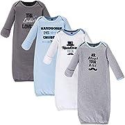 Hudson Baby Baby Cotton Gowns, Handsome Fella, 0-6 Months