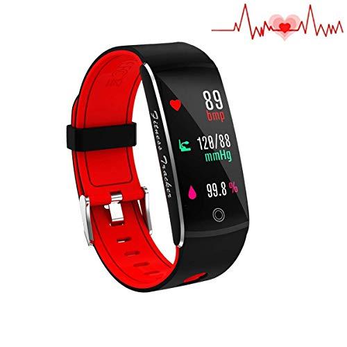 SLSH Inc Fitness Tracker, Smart Uhr 4 Sport-Modus, Pulsmesser IP67 Wasserdicht Activity Tracker, Schlaf-und Blutdruck-Sauerstoff-Monitor, Kalorien/Schrittzähler Smart-Armband iOS Android