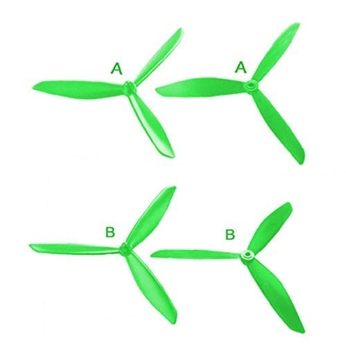 Parti del drone, 501S X4 HS700 Paletta triangolare aggiornata MJX B3 B3 PRO B2SE Rc Quadcopter Dronefor MJX Bugs 3 Parti di riparazione Accessori Ala (Color : Green)