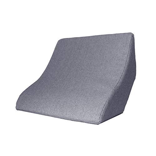 Lesekissen und Rückenstütze für optimale Sitzposition. Keilkissen, Rückenkissen, Fernsehkissen, Ergokissen (Grau)