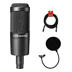 """Cardioid polar pattern reduces pickup of sounds from the sides and rear, improving isolation of desired sound source Large diaphragm for smooth, natural sound and low noise Pop Filter to eliminate the annoying """"plosives"""" from your recordings 10ft. XL..."""