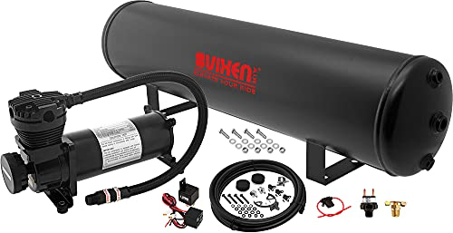 Vixen Air Suspension Kit for Truck/Car Bag/Air Ride/Spring. On Board System- 200psi Compressor, 5 Gallon Tank. for Boat Lift,Towing,Lowering,Leveling Bags,Onboard Train Horn,Semi/SUV VXO4852B