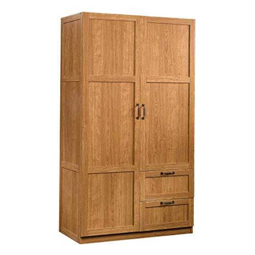 Sauder Miscellaneous Storage Cabinet, L: 40.00' x W: 19.45' x H: 71.10', Highland Oak Finish