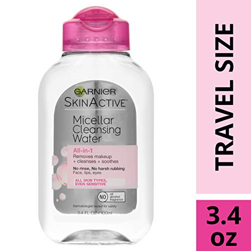 Garnier SkinActive Micellar Cleansing Water, All-in-1 Makeup Remover and Facial Cleanser, For All Skin Types, 3.4 fl oz