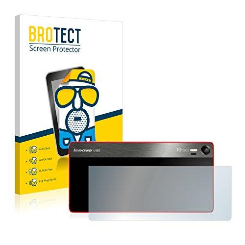 BROTECT 2X Entspiegelungs-Schutzfolie kompatibel mit Lenovo Vibe Shot (Rückseite) Bildschirmschutz-Folie Matt, Anti-Reflex, Anti-Fingerprint