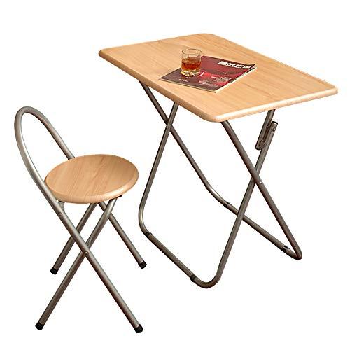 Cylficl Mesa de Comedor Plegable y sillas de Mesa pequeña para el hogar, pequeño apartamento, Mesa de Comedor, Mesa pequeña Rectangular portátil