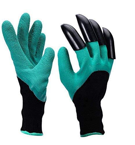 2 paires de gants de jardinage avec griffes pour jardiner, creuser et planter