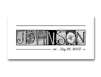 Personalized wedding gifts Wedding Name Sign Family Name Established Sign Creative Letter Art Custom Name Sign Closing gifts Choose Framed or Unframed