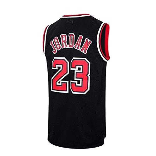 AGAB Herren NBA Jordan # 23 Chicago Bulls Retro Basketball Shorts Sommer Jersey Basketball Uniform Tops und Short One Set-Black-S