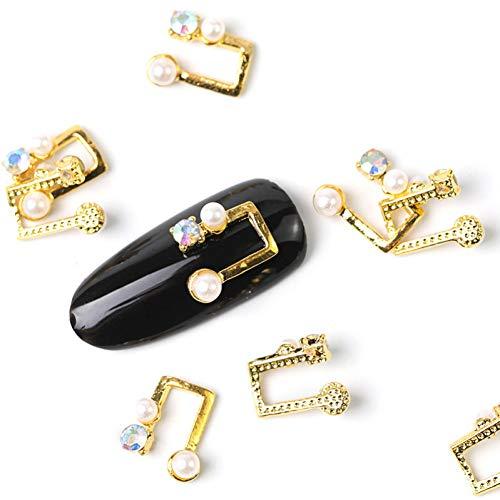 N-A 10 pièces Cristal Brillant Perle ongle Strass Alliage Nail Art décorations Paillettes Bricolage 3D Perle Ongles Bijoux Pendentif