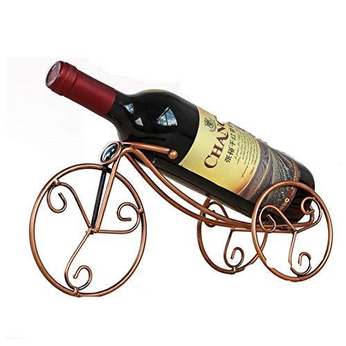 Titular de la botella de vino de hierro Rack de vino Decoración de la casa Ornamentos artesanales El estante de la bandeja para el restaurante del Party Home (Color : Metal)
