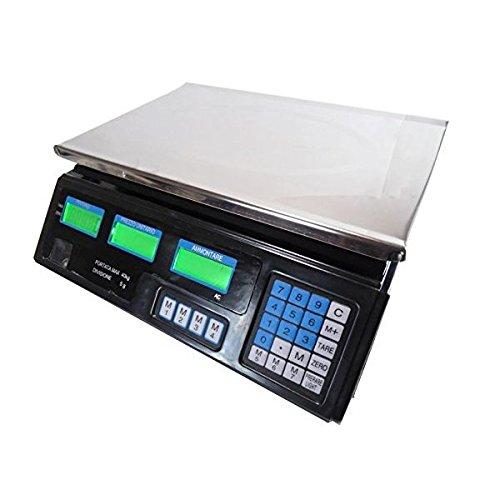 TEMPO DI SALDI Bilancia Elettronica Digitale Professionale Da 5 Gr A 40 Kg In Acciaio Inox