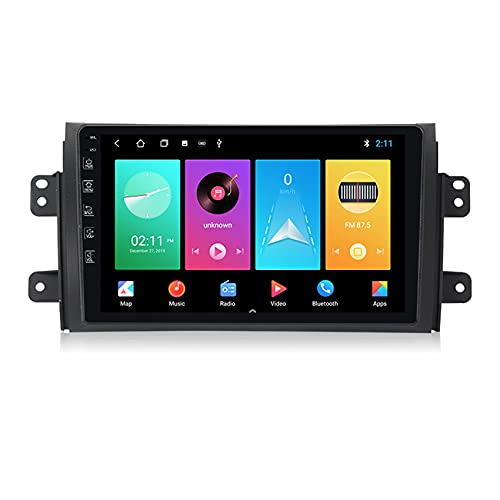 ADMLZQQ Radio Coche con Pantalla Táctil 2 DIN para Suzuki SX4 2006-2014, Autoradio con Bluetooth/GPS/FM/USB/Mandos Volante/Manos Libres + Cámara De Visión Trasera,M150 2+ 32g