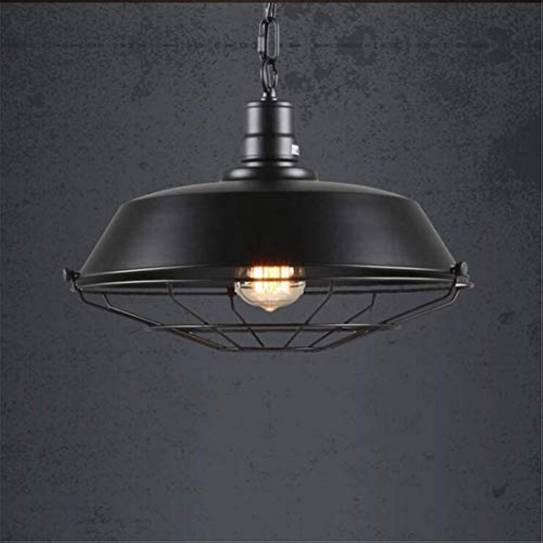 Deckenleuchte Loft Retro Cafe Bar Bar Kronleuchter Creative Pot Restaurant Light (Farbe  Schwarz-36cm)