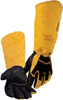 REVCO BSX Premium Pigskin/Cowhide Back Long Cuff Stick Welding Gloves BS99 - L by Revco BSX