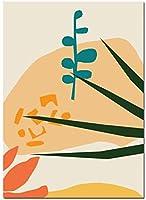 抽象的なファッションヴィンテージガールウォールアートカラフルな幾何学的な絵画北欧のポスター&プリントモダンなリビングルームの装飾壁の写真40x60cmフレームなし-1