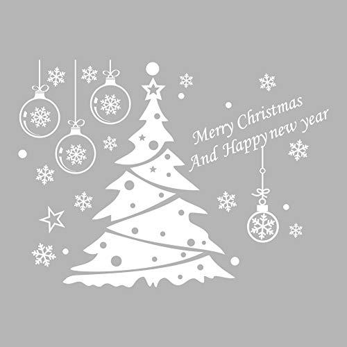 Weihnachtsdekoration Wandaufkleber, Weihnachtsbaum Glas Aufkleber