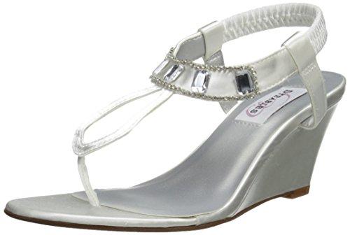 Dyeables, Inc Womens Mila - Zapatillas para Mujer, Color Blanco, Talla 37, Color, Talla 36.5 EU