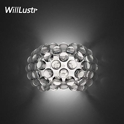 5151BuyWorld Design lamp Ontwerp Moderne wandlamp van acryl Initial verlichting replica van de Foscarini Cabochon wandlamp LED R7S gloeilamp helder gouden kogels {}