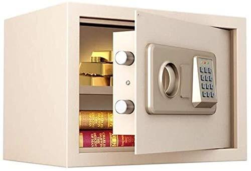HLZY Caja Fuerte para el hogar, Cajas de Bloqueo Seguro Caja de Bloqueo Digital Impermeable Segura |Inicio Combinación de Acero electrónico Seguro con Teclado |2 Llaves de anulación Manual