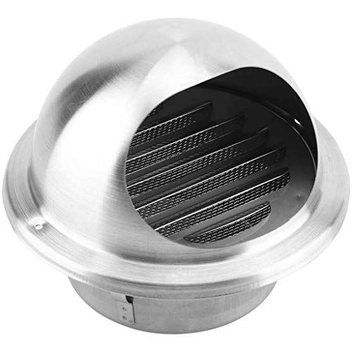 LTLCBB Cubiertas de Escape de Acero Inoxidable Esfera Salida de Aire Rejilla de ventilación Espesar la Capilla de Montaje en Pared para el baño Vents de Cocina Ventilador y Las Rejillas,125mm