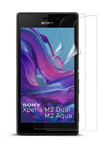 moex Klare Schutzfolie kompatibel mit Sony Xperia M2 - Bildschirmfolie kristallklar, HD Bildschirmschutz, dünne Kratzfeste Folie, 2X Stück