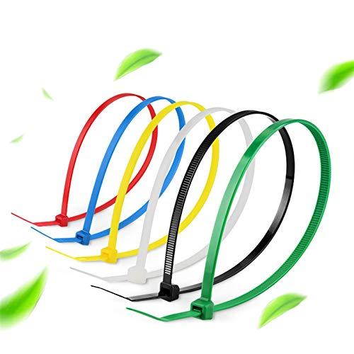 Câble en plastique cravate Cadre de câble en nylon de 2,7 × 150/200 / 250mm de câble de câble en plastique d'organisateur de câble de câble de câble de câble, 6 mix de mixage Fixer la boucle Heavy Dut