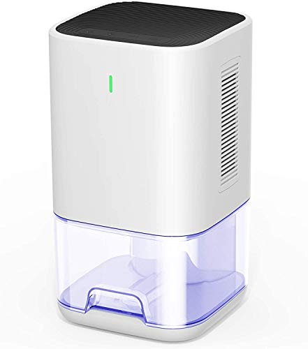 HXV Dehumidifier, Upgraded 1200ml 6H/12H Timer Off Small Dehumidifier for 2200 Cubic Feet Home Basement, Bedroom, Bathroom Closet, RV Camper