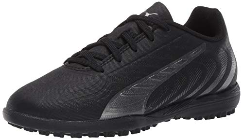 PUMA unisex child Puma One 20.4 Turf Trainer Soccer Shoe, Puma Black-asphalt, 5 Big Kid US