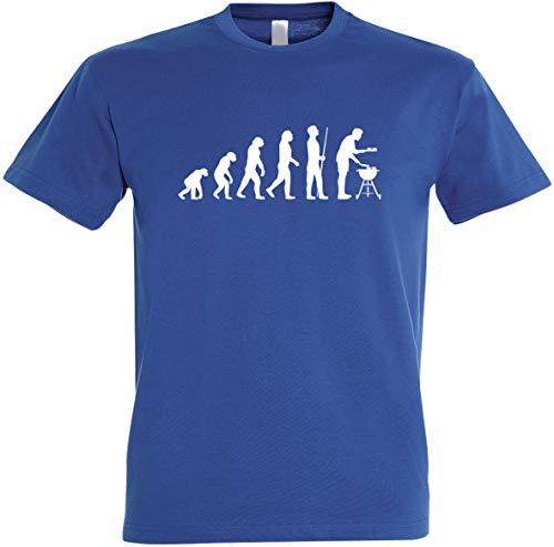 Herren T-Shirt Grill Evolution S bis 5 XL (S, Royalblau)