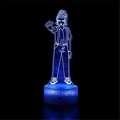 Strange Things Eleven LED 3D luz nocturna, lámpara de ilusión óptica, 16 colores cambiantes lámpara de escritorio para niños, Navidad, cumpleaños, decoración del hogar