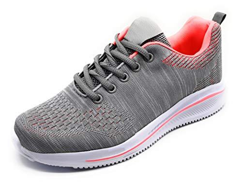 Zapatillas Deportivas para Mujer Transpirables Ligeras de Malla para Correr Caminar Trabajar