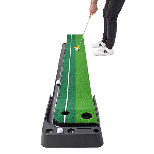 Abco Tech Indoor Golf Putting Green – Portable Mat with Auto Ball Return Function – Mini Golf...