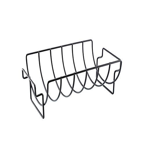HITECHLIFE Costilla Estante Para Barbacoa, Antiadherente Estante De Costilla Soporte Barbacoa Costilla Asado Parrilla Parrilla Acampar Al Aire Libre Bbq Pollo Carne Res