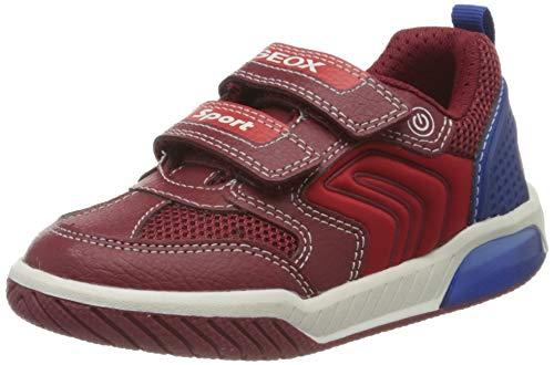 Geox Jungen J INEK Boy D Sneaker, Rot (Red/Royal C7213), 24 EU