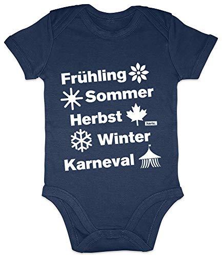 Hariz - Body de manga corta para bebé, primavera, verano, otoño, invierno, carnaval, disfraz incluye tarjeta de regalo azul Azul Oscuro Talla:3-6 meses