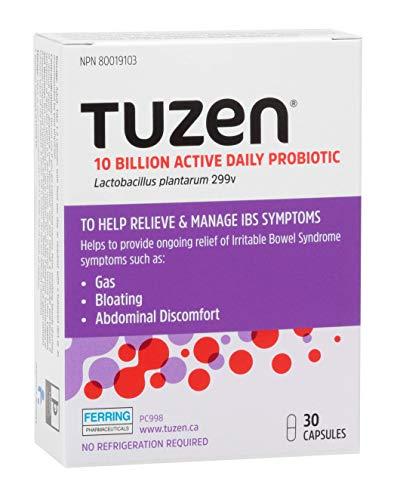 Tuzen Probiotique, soulagement du gaz, ballonnements et inconfort abdominal, 30 capsules
