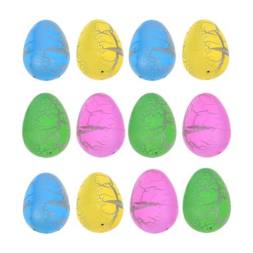 Gadpiparty 12 Unidades de Huevos de Dinosaurio para Incubar Juguete para Hacer Crecer Huevos de Dinosaurio para Mascotas en Agua Huevos de Caza de Pascua Regalos para Niños Y Niñas