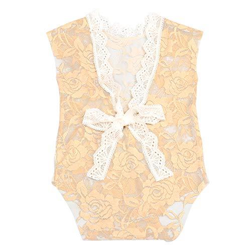 Amorar Combinaison Bébé Fille Pantalons Robes Outfit Nouveau née Accessoires de Photographie Dentelle Creuse Photographie Barboteuse Robe + Bandeaux