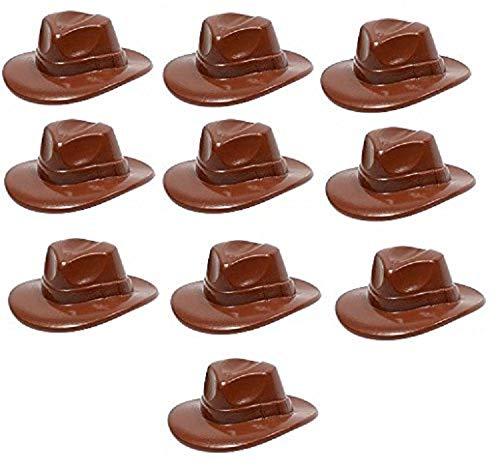 LEGO Indiana Jones - 10 seltene Hüte - Kopfbedeckungen - Fedora - Cowboy Hut