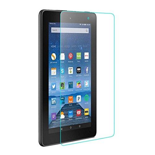 Para Para Fire 7'2015Protector de pantalla, Fulltime (TM) templado cristal Protector de pantalla Flim para Amazon Kindle Fire HD 72015Tablet