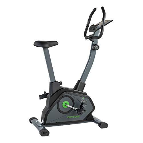 Tunturi Cardio Fit B35 Heimtrainer Fahrrad/Fitnessfahrrad/Hometrainer Fahrrad Trainer mit LCD-Bildschirmanzeige und Tablethalterung - Schwarz