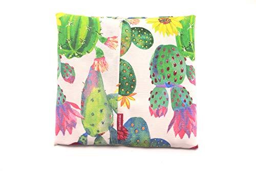 Saquito Térmico de Semillas Microondas Cactus (Lavanda, L (28 x 26 x 2 CM con Funda))